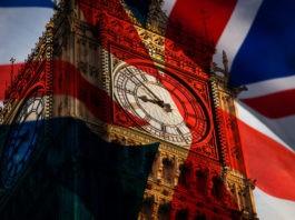 Big Ben and the UK flag symbolizing brexit