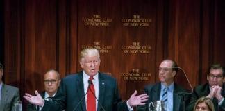 Trump speaking in an economic meeting with kudlow