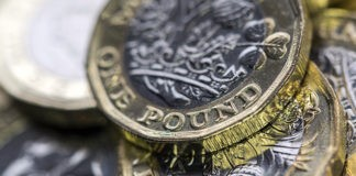 closeup shot of a british pound