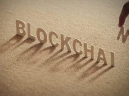 blockchain written using wooden blocks