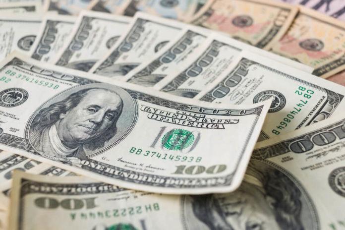 US dollar closeup shot