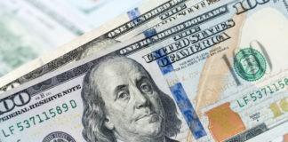 US dollar banknote closeup