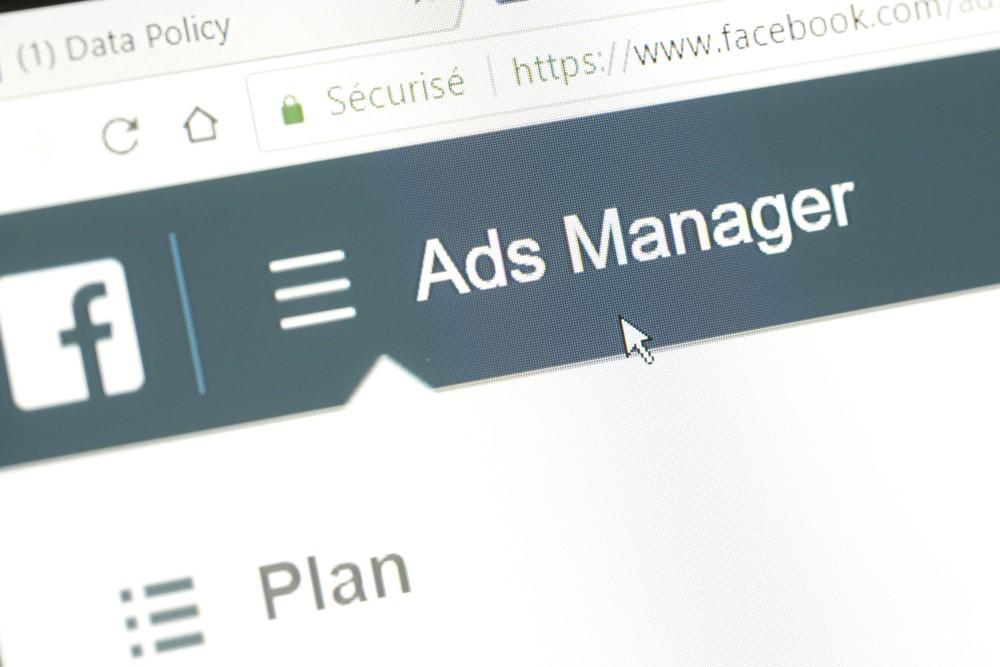 Wibest Broker-Facebook Network: Facebook Ads Manager page on website