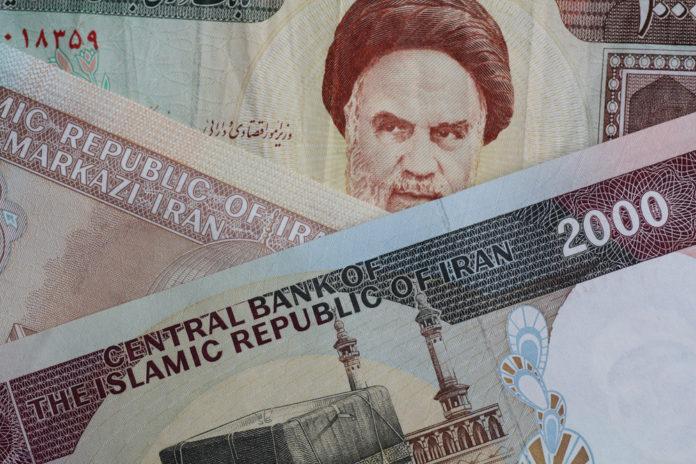 Tehran: Iranian rial bills.