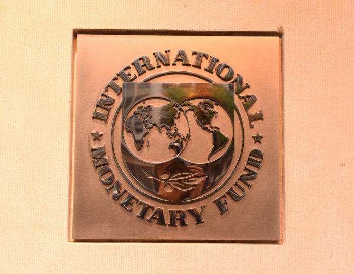 Wibest – IMF: Emblem of the International Monetary Fund in their headquarters in Washington.