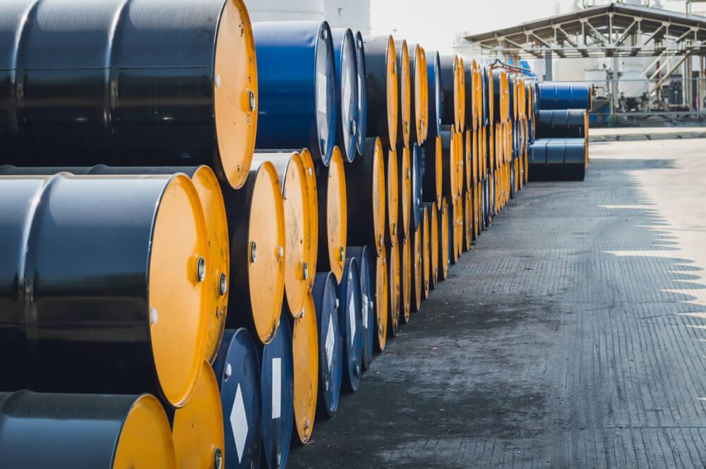 Wibest – Petroleum: Barrels of crude oil stacked up together