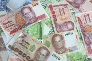 Thai: Thai baht bills.