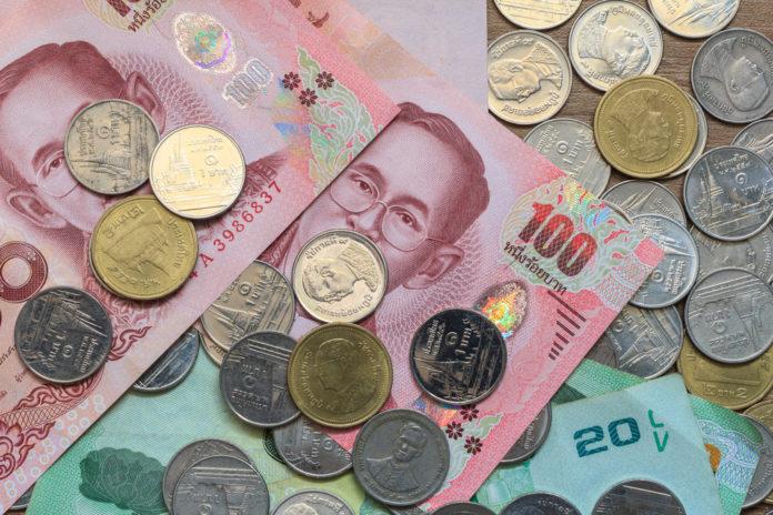 Thai: Thai baht coins and notes