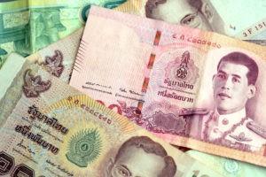 USD to Chinese Yuan: Thai baht notes.
