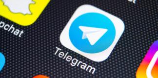 Telegram: Telegram application icon on screen close-up.