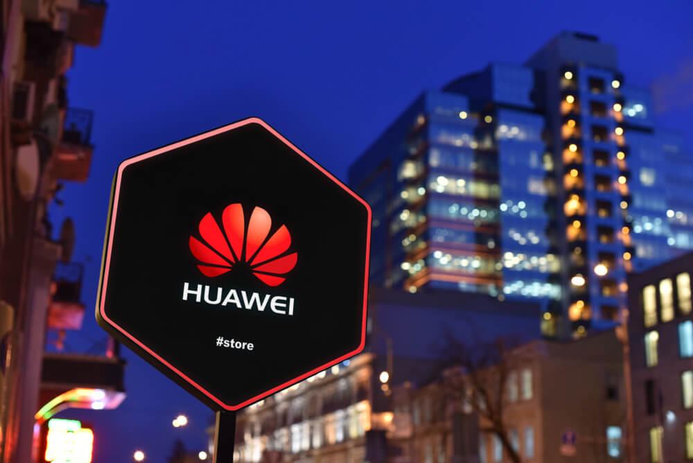 Huawei: Sign of Huawei Store