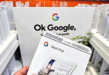 Wibest – google.com: A paper that displays the logo of Google Nest Hub.