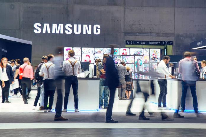 Samsung: Samsung exhibition pavilion.