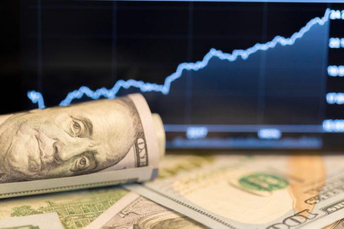 Dollar surged forward