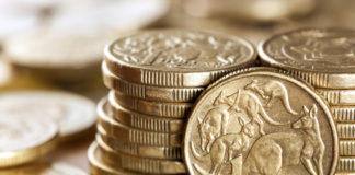 Wibest – Australian Money: Australian dollar coins stacked.