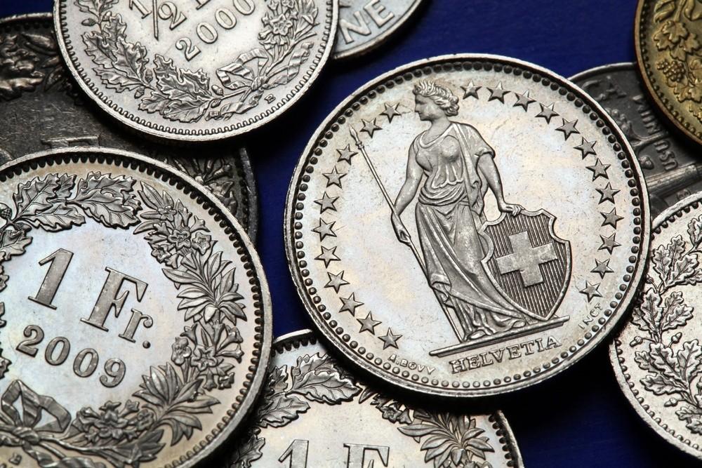 Wibest – Franc: Swiss franc coins.