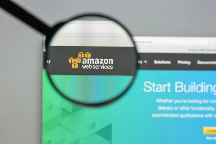 Amazon Web Services: Amazon web services website homepage.
