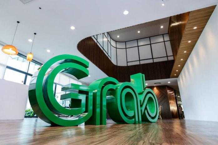 Wibest – Grab: Grab display at the main Grab headquarters lobby