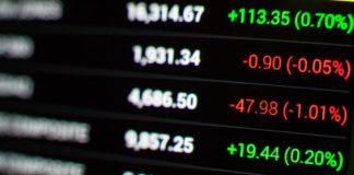 Asian Market: stock market chart.