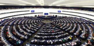 European: Plenary hall of the European parliament.