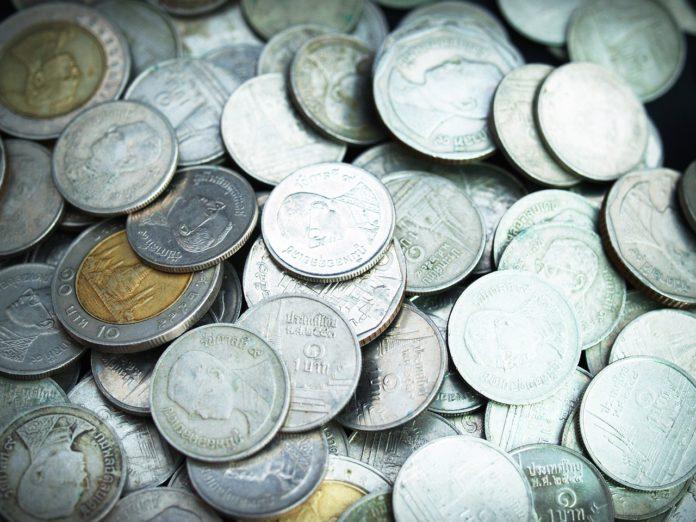 Wibest – Thai: Thai baht coins.