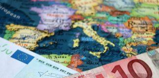 euro on top of eurozone map – wibestbroker