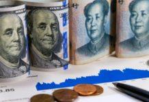 fx market concept, dollar and yuan bills – wibestbroker