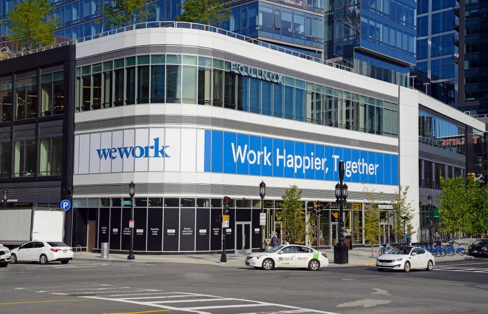Legere: WeWork logo.