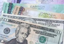 US Dollar and Canadian Dollar Banknotes