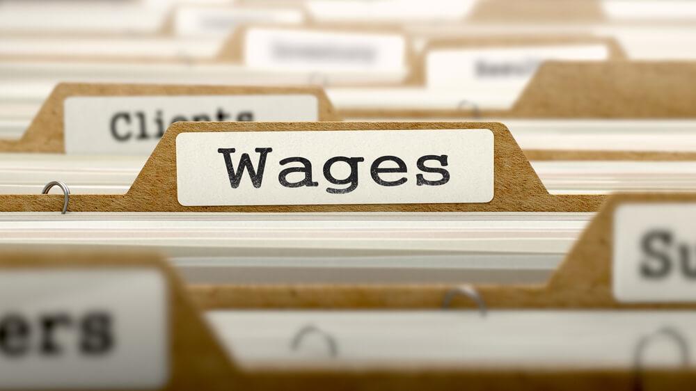 Rev Freelance: Wages Word on Folder Register of Card Index.