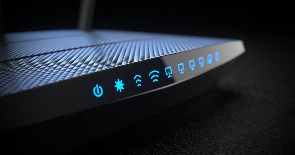 Eero: Wi-Fi wireless internet router on dark background