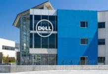 Dell: Dell computer corporate facility and logo.