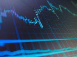 stock, IKON: Graphic of market.