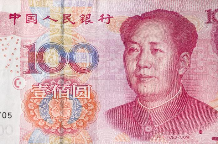 Wibest – Chinese yuan bill.