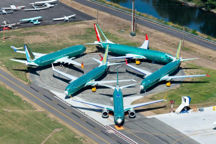 737: Multiple engineless Boeing 737 MAX.