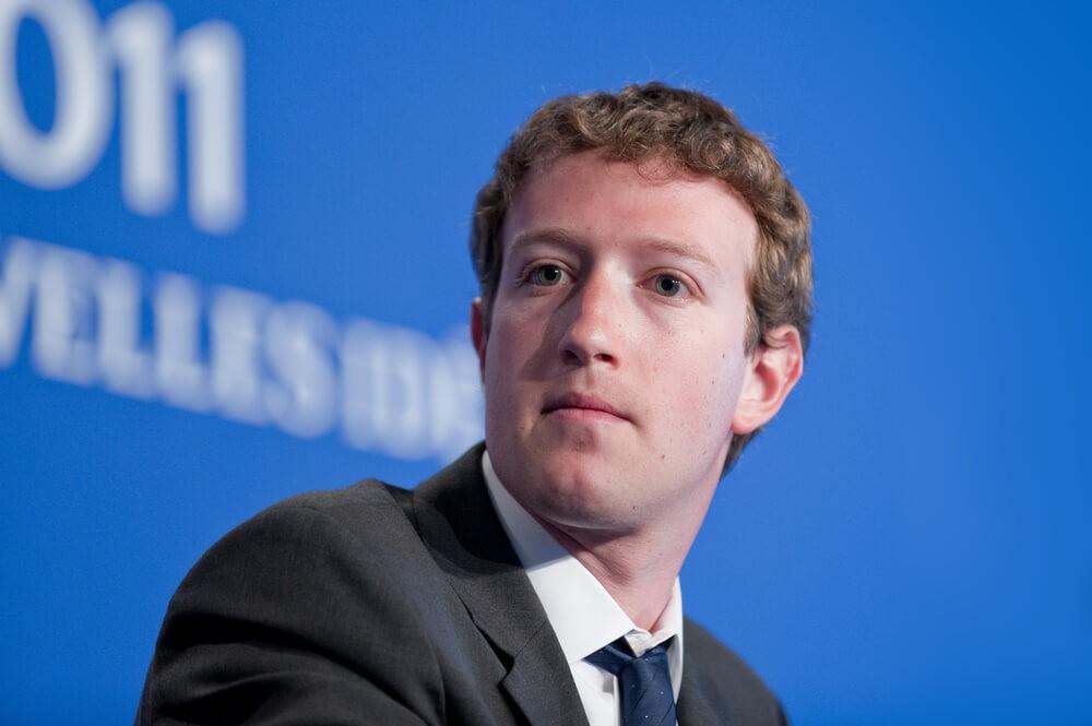 ads: Facebook CEO Mark Zuckerberg photo.