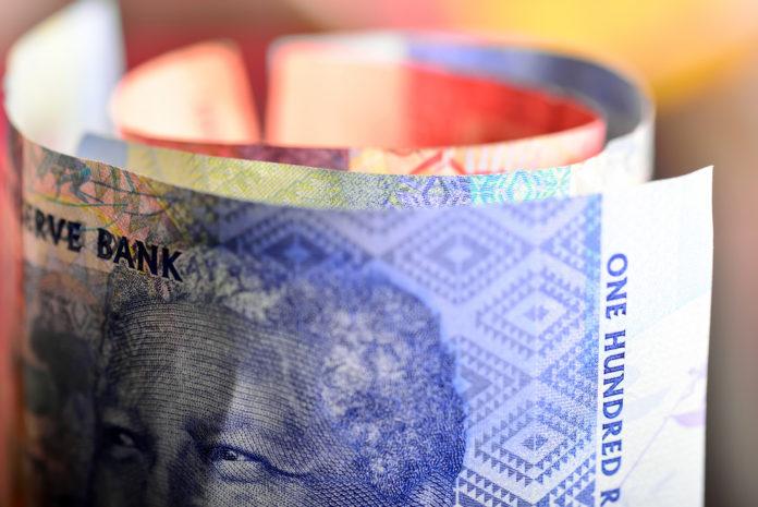 Wibest – Rand: South African rand bills.