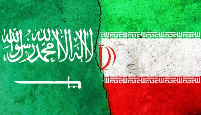 Wibest – Iran: Iranian and Saudi Arabian flags.