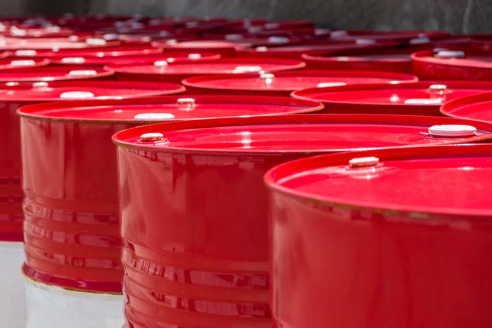 Wibest – Oil and petroleum: Red crude oil barrels.