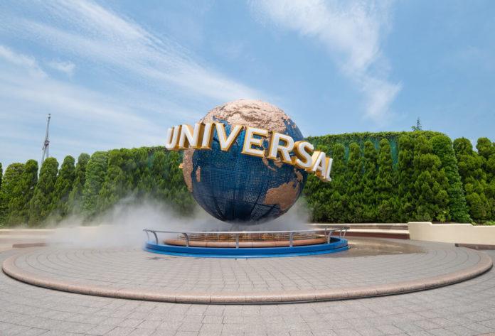 Universal Globe outside the Universal Studios.