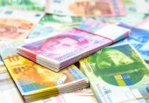 Wibest – Washington: Swiss franc bills.