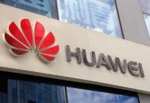 Huawei sign.