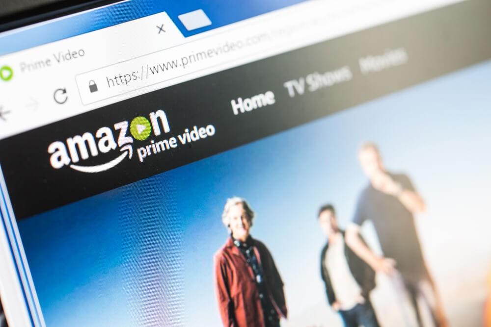 Amazon Prime Video HomePage of Website.