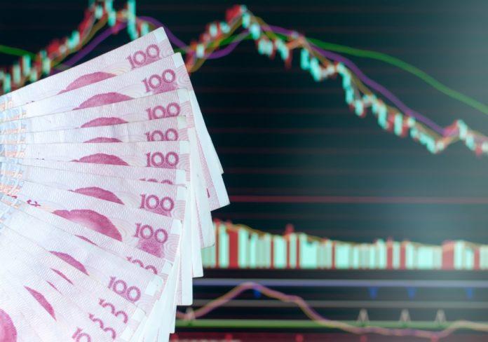 Chinese Yaun skyrocketed against the U.S. dollar on Monday