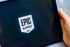 Logo of Epic Games