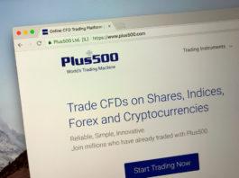 Website of Plus500.