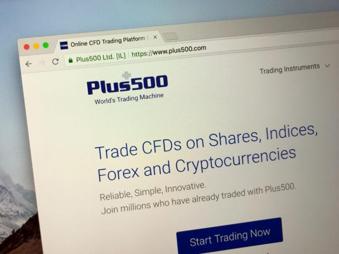 Plus500 website.