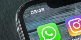 Whatsapp messenger application icon on smartphone.