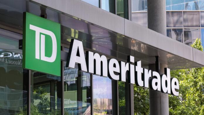 A logo of TD Ameritrade.