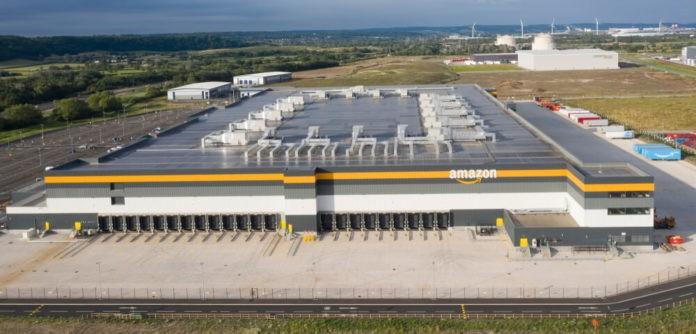 Amazon warehouse & distribution centre building.